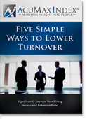 Five Simple Ways to Reduce Turnover - Download